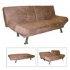 ORE Adjustable Futon Convertible Sofa Bed in Dark Brown - Sofa and Chair Shop