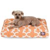 Trellis Rectangular Pet Bed Color: Peach, Size: Medium (44