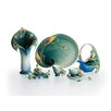 Kathy Ireland Home By Franz Collection-peacock Splendor Small Porcelain Serving Platter