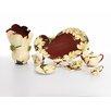 Kathy Ireland Home By Franz Collection-autumn Memories Floral Porcelain 9-piece Tidbit Dish Set