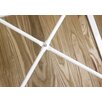 17 Stories Arnt Tolix Style Dining Table Top Color Light wood Base Color White