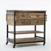 17 Stories Adalrik Kitchen Cart with Solid Wood Top