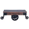 17 Stories Ellingsworth Industrial Cart Coffee Table Color Natural
