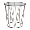 17 Stories Lyla Round Caged End Table