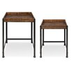 17 Stories Malachy Rustic Modern Side Accent 2 Piece Nesting Tables