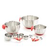 11 Pieces Stainless Steel Mixing Bowl Set