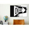 Zipcode Design 'Which Way (One Way)' Textual Art on Wrapped Canvas - Zipcode Design Wall Art