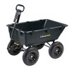 Heavy Duty Garden Poly Dump Cart with 2-in-1 Convertible Handle