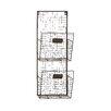 10 x 27 x 4 Metal 2 Tier Wall Pocket