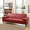 Shayne Convertible Sofa - Upholstery: Red - Ivy Bronx Sofas