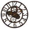17 Stories Gears in Motion 14 Round Metal Gear Wall Clock