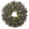 12 GreenPurple Faux Wreath