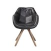 17 Stories Arpana Genuine Leather Upholstered Dining Chair Color Black