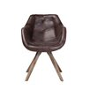 17 Stories Arpana Genuine Leather Upholstered Dining Chair Color Brown