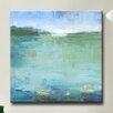 Zipcode Design 'Watery' Framed Print on Canvas in Blue/Green - Zipcode Design Wall Art