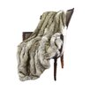 Higgin Faux Fur Lounge Throw Color: Kitt Fox, Size: 60