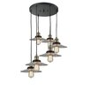 17 Stories Choy 6 Light Cluster Pendant Finish Black Brushed Brass