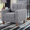 Persis Tufted Mid Century Armchair - Upholstery: Dark Gray, Finish: Light Brown - Ivy Bronx Sofas