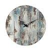 16 Round Wood Wall Clock Color Belos Dark Blue