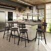 17 Stories Ishani Adjustable Height Bar Stool Base Finish Semi Transparent Upholstery Medium Dark Gray