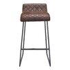 17 Stories Fien 303 Bar Stool Upholstery Vintage Brown