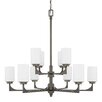 17 Stories Bowdoin 10 Light Shaded Chandelier
