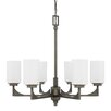 17 Stories Bowdoin 6 Light Shaded Chandelier