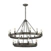 17 Stories Copes 22 Light Wagon Wheel Chandelier