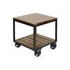 17 Stories Jamila 2 Tier Industrial Trolley Wheel End Table