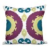 Oliver Boho Geometric Outdoor Throw Pillow Size: 18