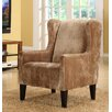 Armen Living Madera Club Chair in Brown - Sofa and Chair Shop