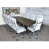 17 Stories Charters Towers Rectangular 30H x 40W x 92L Conference Table Set