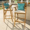 Docklands 29 inch Wood Patio Bar Stool with Cushion - Patio Bar Stools Outdoor Furniture
