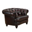 Roosevelt Leather Chesterfield Chair