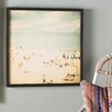 East Urban Home Vintage Beach Framed Photographic Print - East Urban Home Wall Art