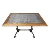 17 Stories Colyer Reclaimed Oak Industrial Dining Table