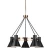 17 Stories Alton 5 Light Shaded Chandelier Finish Satin Bronze