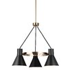17 Stories Alton 3 Light Shaded Chandelier Finish Satin Bronze