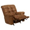 Catnapper Cloud Ten Leather Chaise Rocker Recliner in Mushroom - Sofa and Chair Shop