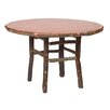 Hickory Round Dining Table Size Traditional Standard