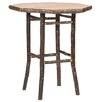 Hickory Pub Table Size Rustic Standard