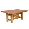 Traditional Cedar Log Rectangular Dining Table Size Standard