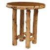 Traditional Cedar Log Round Pub Table Size Standard