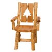 Traditional Cedar Log Cut Out Side Chair Cut Out Pine Tree