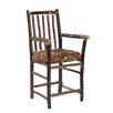 Hickory Bar Chair Arms and Upholstered Seat