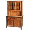 Hickory Dining Hutch Rustic Features Wine Rack 967 - 85
