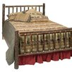 Hickory Slat Log Bed Traditional Hickory Rails Size Twin