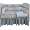 Girls Crib Bedding Set Blossoms and Bows 9