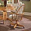 Threshers Too Bow Back Caster Chair Distressed Antique Oak Cushion Fabric Wheat Walker 178 2131