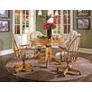 Cushions Threshers Too Bow Back Caster Chair Distressed Antique Oak Fabric Wheat Walker 178 2131